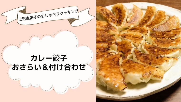 上沼恵美子のおしゃべりクッキング「カレー餃子」レシピと作り方のおさらい&付け合わせ