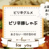 上沼恵美子のおしゃべりクッキング「ピリ辛豚しゃぶ」おさらいと付け合わせ!